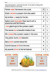 Advanced Linking Verb Worksheets | Linking verbs and Worksheets