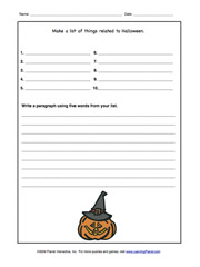 I am going to be writing an essay on halloween ?