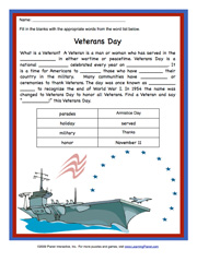 math worksheet : learningpla   : Veterans Day Math Worksheets