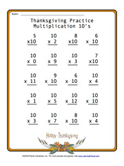 math worksheet : learningpla   : Thanksgiving Themed Math Worksheets